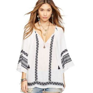 NWT Denim & Supply embroidered peasant top